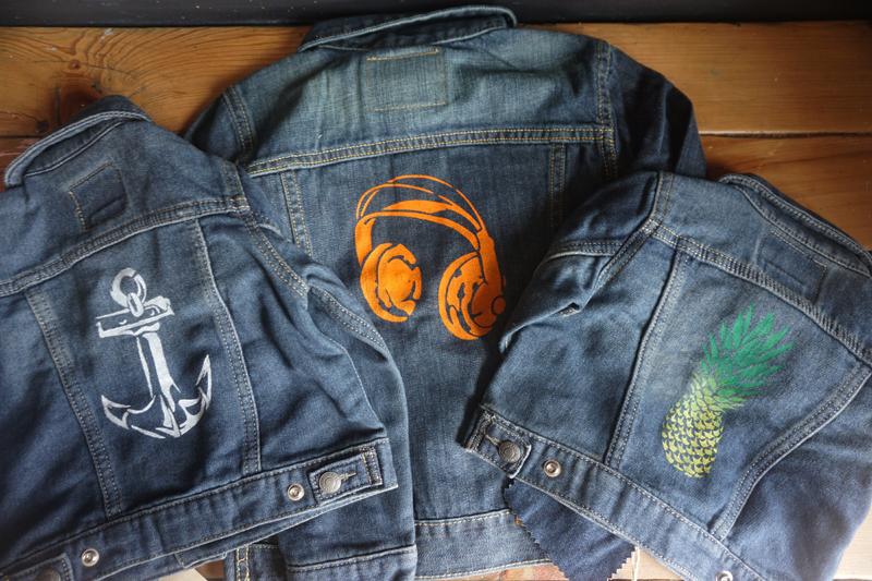 Diy Kids Back To School Denim Jackets Stencil 1