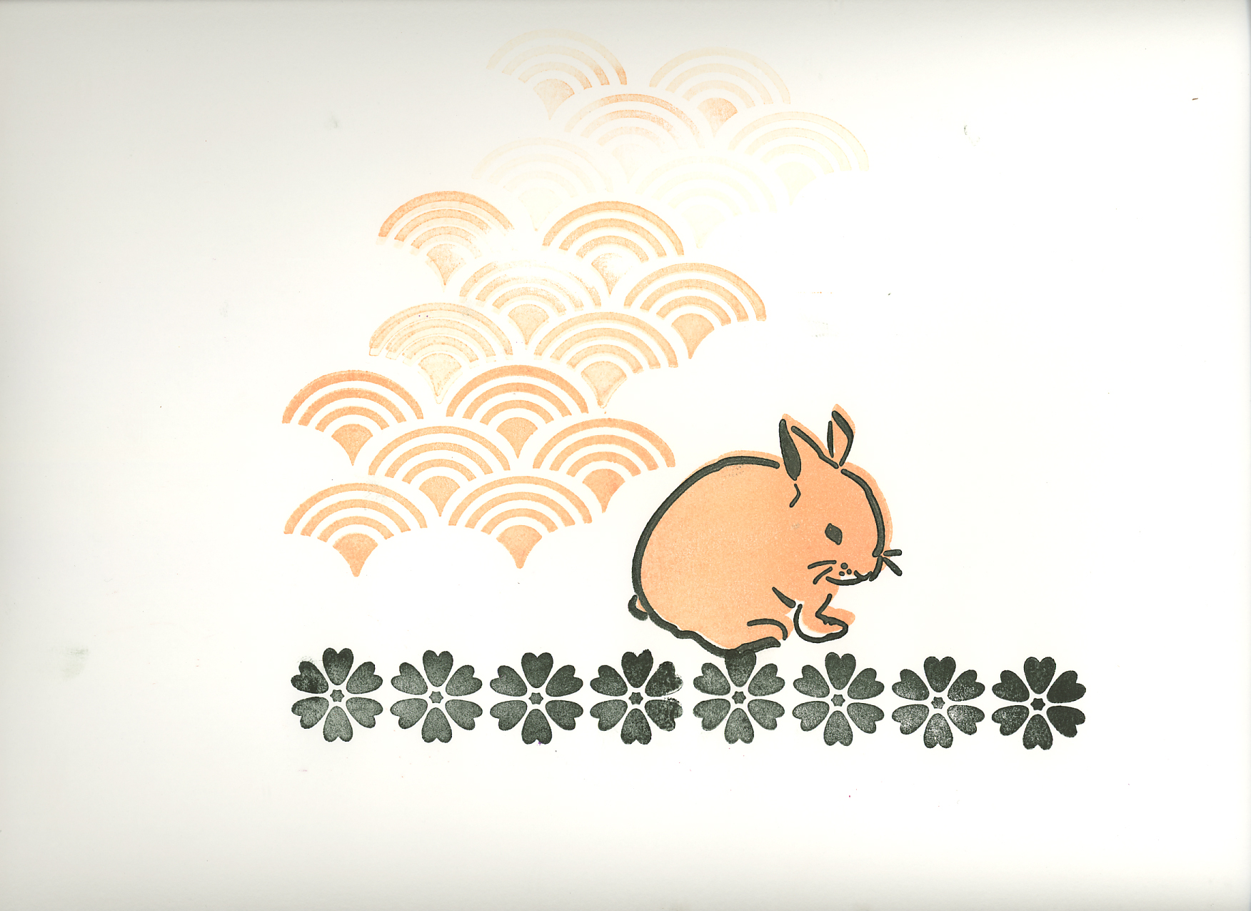 Bunny Flowers And Scallop Stamp Set
