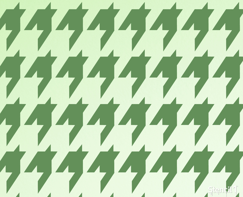 Houndstooth Repeat Pattern Stencil 11x11 Stencil 1